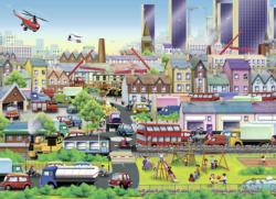 Busy Neighborhood Planes Children's Puzzles