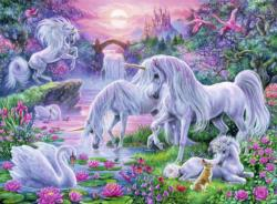 Unicorns in the Sunset Glow Sunrise/Sunset Children's Puzzles