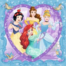 Lovely Disney Princesses Hearts Jigsaw Puzzle