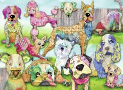 Patchwork Pups Dogs Large Piece