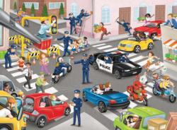 Police on Patrol People Children's Puzzles