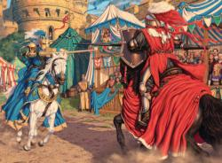 Exciting Joust Horses Jigsaw Puzzle