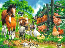 Animals Get Together Pig Children's Puzzles