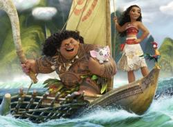 Moana and Maui Boats Children's Puzzles