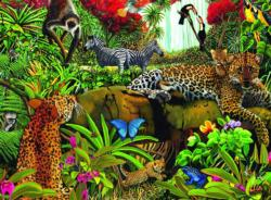 Wild Jungle Jungle Animals Children's Puzzles