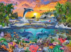 Tropical Paradise Sunrise / Sunset Large Piece