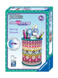 Pencil Cup  (Sweet Heart Storage) Flowers Jigsaw Puzzle