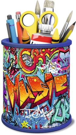 Pencil Holder -  Grafitti Contemporary & Modern Art 3D Puzzle