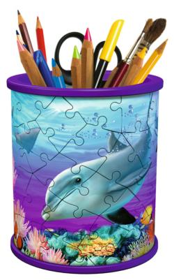 Pencil Holder - Underwater Dolphins 3D Puzzle