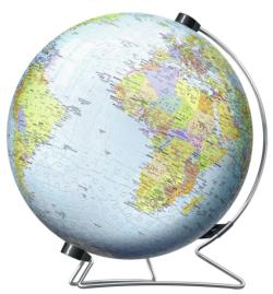 The Earth Maps / Geography Round Jigsaw Puzzle