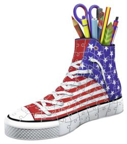 Sneaker American Style Patriotic Arts and Crafts