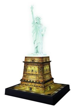 Statue of Liberty - Night Edition New York 3D Puzzle