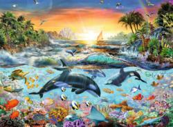 Orca Paradise Sunrise/Sunset Jigsaw Puzzle