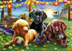 Puppy Picnic - Scratch and Dent Dogs Children's Puzzles
