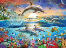 Dolphin Paradise Family Fun Large Piece