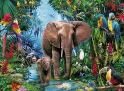 Safari Animals Elephants Large Piece