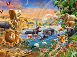 Savannah Jungle Waterhole Elephants Children's Puzzles