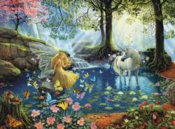Mystical Meeting Waterfalls Jigsaw Puzzle
