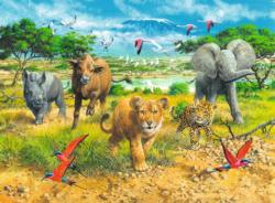 African Animal Babies Jungle Animals Children's Puzzles