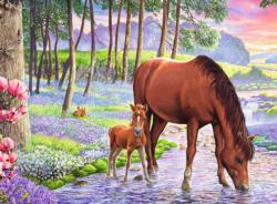 Serene Sunset Horses Children's Puzzles