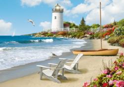 Sunlit Shores Seascape / Coastal Living Large Piece