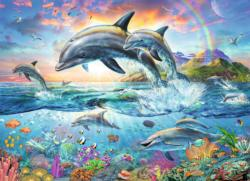 Vibrant Dolphins Under The Sea Coloring Book