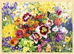 The Cottage Garden No 1, Spring Collage Jigsaw Puzzle