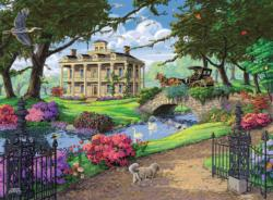 Visiting the Mansion Landscape Jigsaw Puzzle
