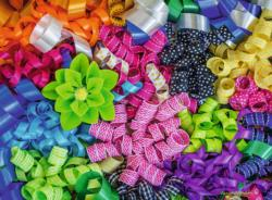 Colorful Ribbons Pattern / Assortment Jigsaw Puzzle