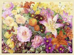 The Cottage Garden No 3, Autumn Collage Jigsaw Puzzle