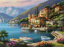 Villa Bella Vista Seascape / Coastal Living Jigsaw Puzzle