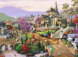 Hillside Retreat Landscape Jigsaw Puzzle