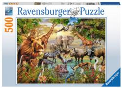 Majestic Watering Hole Jungle Animals Jigsaw Puzzle