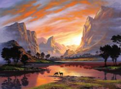 Tranquil Sunset Sunrise / Sunset Jigsaw Puzzle