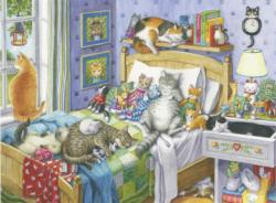 Cat Nap Domestic Scene Large Piece