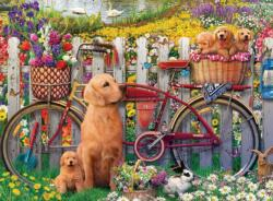 Cute Dogs Flowers Jigsaw Puzzle