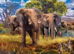 Elephants Elephants Jigsaw Puzzle