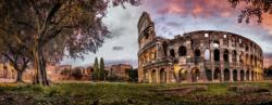 Sunset Colosseum Photography Panoramic Puzzle