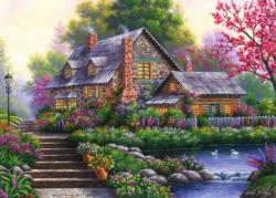 Romantic Cottage Romantic Setting Jigsaw Puzzle