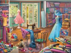 Seamstress Shop Shopping Jigsaw Puzzle