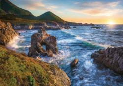 Big Sur Sunset Lakes / Rivers / Streams Jigsaw Puzzle