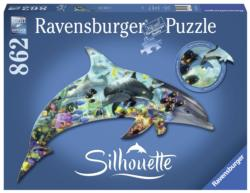 Dolphin Under The Sea Shaped Puzzle