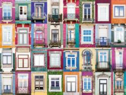 Portuguese Windows Pattern / Assortment Jigsaw Puzzle