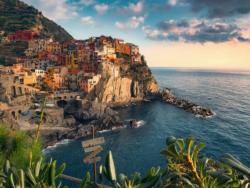 Cinque Terre Viewpoint Seascape / Coastal Living Jigsaw Puzzle