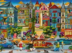 The Painted Ladies San Francisco Jigsaw Puzzle