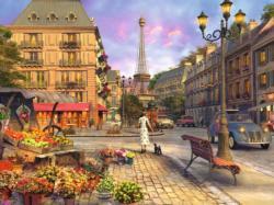 Vintage Paris Street Scene Jigsaw Puzzle