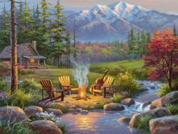 Riverside Livingroom Cottage / Cabin Large Piece