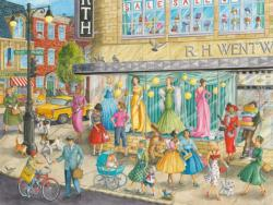 Sidewalk Fashion Shopping Jigsaw Puzzle