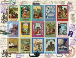Vacation Stamps Pattern / Assortment Jigsaw Puzzle