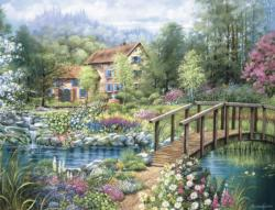 Shades of Summer Cottage / Cabin Jigsaw Puzzle